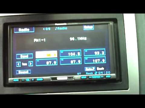 Panasonic CQ-VW100U 7 LCD DVD 2 din Car Stereo Head