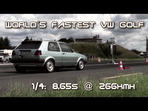 VW Golf MK2 AWD 900HP 8,65s @ 266kmh 16Vampir