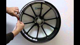 4moto - Felgenrandaufkleber GP Style mit Abstandsstreifen richtig Aufkleben, so wird es gemacht !!!