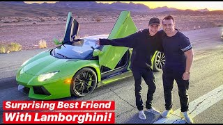 SURPRISING MY BEST FRIEND WITH A LAMBORGHINI AVENTADOR! by Vehicle Virgins