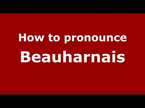 How to pronounce Beauharnais (French) - PronounceNames.com