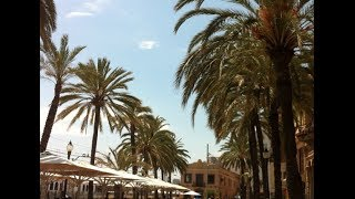 Badalona Spain  city pictures gallery : Walking in the center of Badalona Barcelona Spain 2014 - Shopping, Cafe, Beach