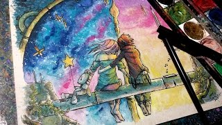 Always - Time Lapse Watercolor Painting
