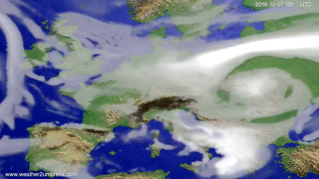 Cloud forecast Europe 2016-10-03