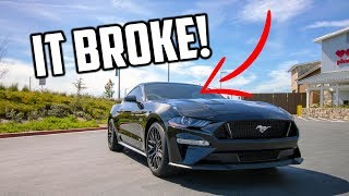 My NEW Mustang GT and Challenger SRT windshield's BROKE...UNLUCKY!!!