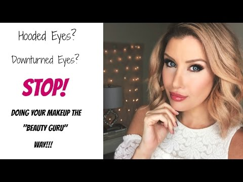 HOODED or DOWNTURNED Eyes? STOP Doing Your Makeup Like A Youtuber! (Easy Eye Makeup Tutorial) (видео)