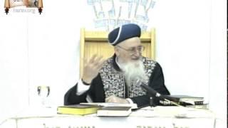 """הרב מרדכי אליהו – פרשת ויצא (ה'תשנ""""ט)"""