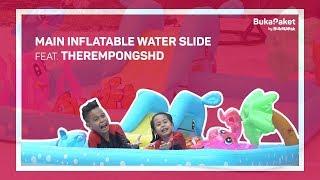 Video Inflatable Water Slide: Buat Kolam Renang Sendiri ala TheRempongsHD   BukaPaket for Kids MP3, 3GP, MP4, WEBM, AVI, FLV November 2018