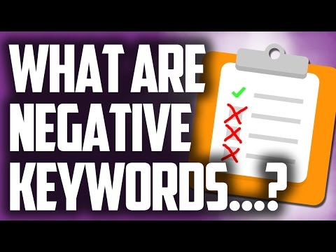 Negative Keywords Match Type Example Illustration