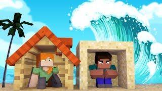 Minecraft: DESAFIO DA BASE 100% SEGURA TSUNAMI   Afreim
