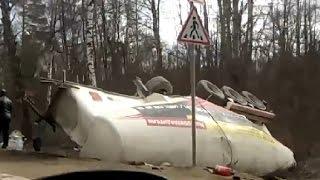 Аварии с участием грузовиков Апрель 2015