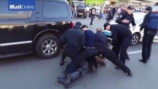 PIJANY ZŁOTY MEDALISTA OLIMPIJSKI VS 7 POLICJANTÓW. NIE DAŁ IM ŻADNYCH SZANS…