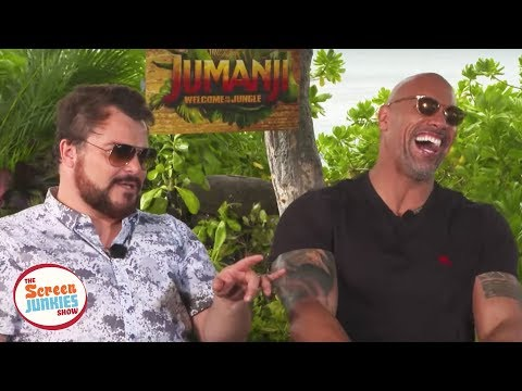 jack black's impression of the rock is perfect