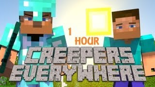 """[1 HOUR] """"Creepers Everywhere"""" - A Minecraft Parody of Cold Play's Paradise [1 HOUR!]"""