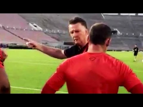 Wayne - Manchester United manager Louis van Gaal gets involved in a training session on the club's USA pre-season tour, giving Wayne Rooney and Antonio Valencia some shooting tips. Van Gaal then gives...