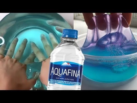 How To Make DIY No Glue Slime (water Slime Without Glue)