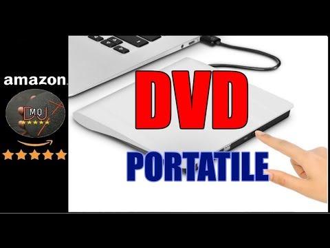 🎬AMAZON►Portatile Ottico DVD CD-RW con USB2.0, Masterizzatore e Lettore