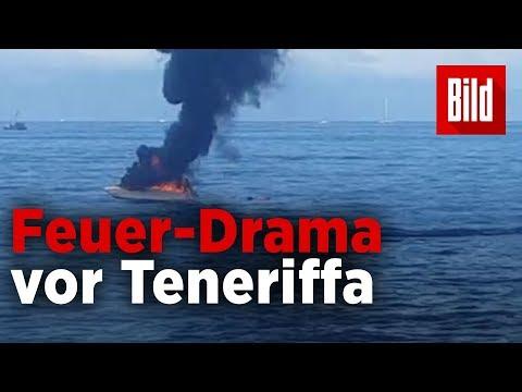 Jacht in Flammen – Feuer-Drama vor der Küste Teneri ...