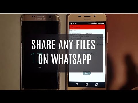 Share any Unsupported File on Whatsapp | 2 Clicks  Only |