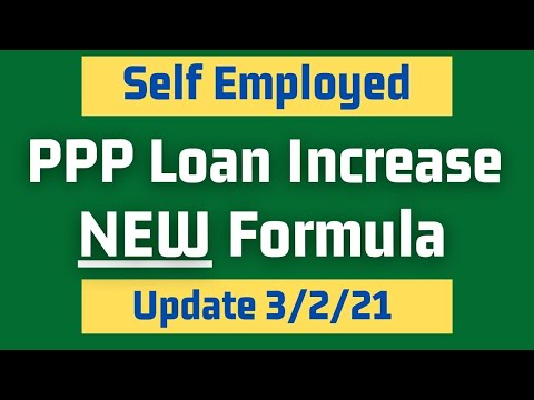 NEW PPP Loan Formula Increase for Self Employed, Independent Contractors, Sole Proprietors