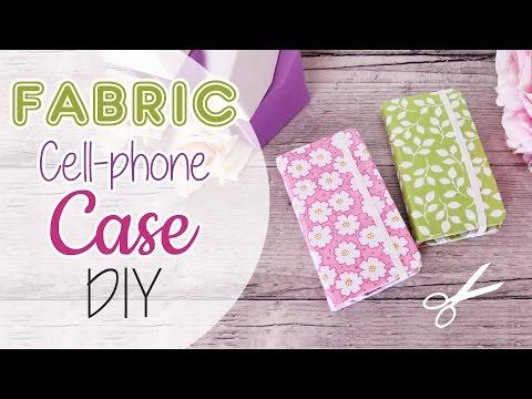 cover di stoffa per cellulare - fai da te