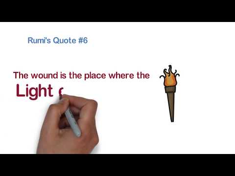 Rumi's 10 Famous Quotes  Animated Video #Rumi #quotes #philosophical