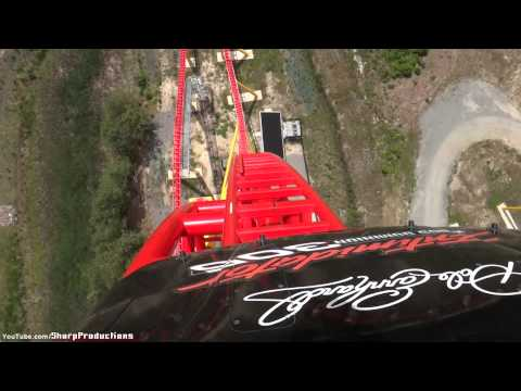 Intimidator - Front Rider's Perspective on Intimidator 305 (Intamin AG: Giga Coaster) at Kings Dominion in Doswell, Virginia, USA. Operating since 4/2/2010 Length: 5100' H...