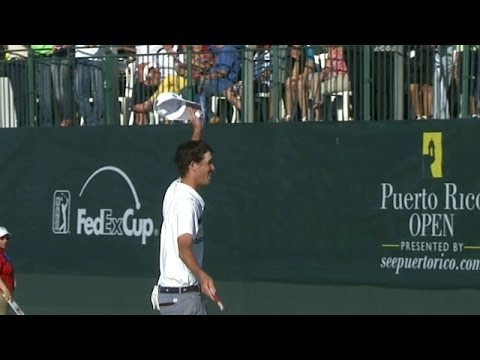 Puerto Rico - In the final round of the 2014 Puerto Rico Open, Chesson Hadley makes a 4-foot birdie putt on the par-5 18th hole to capture his first PGA TOUR victory. Subs...