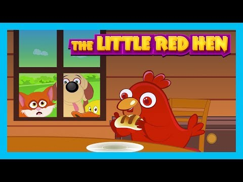 THE LITTLE RED HEN - STORY FOR KIDS || English Stories - Kids Hut Stories
