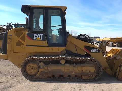 CATERPILLAR CHARGEURS SUR CHAINES 953D equipment video 6VT-hy8h5II