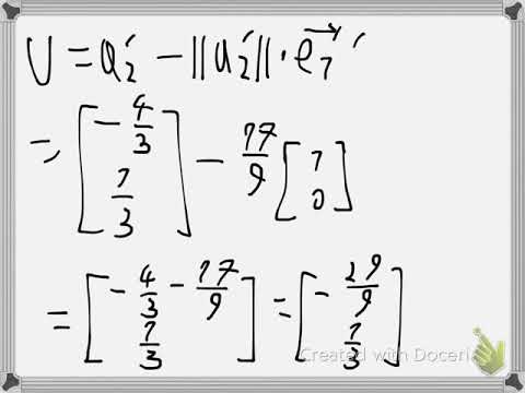 Numerical QR factorization with Householder matrix Example 1
