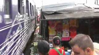 Maeklong Station Train Market, Bangkok