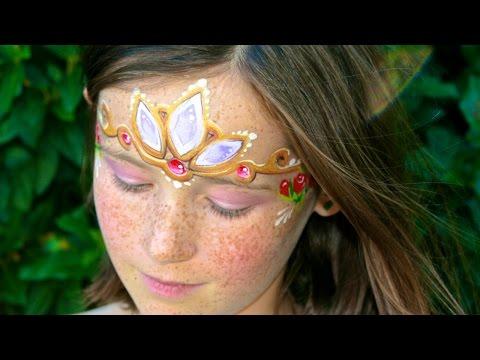 Maquillage de princesse de conte de fées - Le diadème de Raiponce - Tutoriel maquillage des enfants