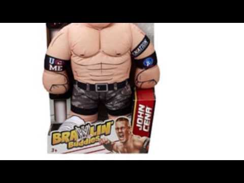 Video YouTube overview of the Wwe Brawlin Buddies John Cena Plush