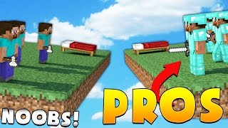 3 PROS VS NOOBS = 5 WINS - Minecraft Bed Wars