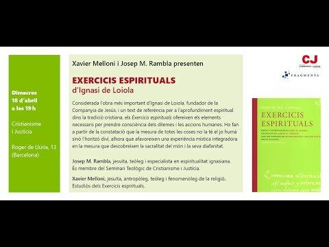 Xavier Melloni i Josep M. Rambla van presentar els 'Exercicis espirituals' d'Ignasi de Loiola
