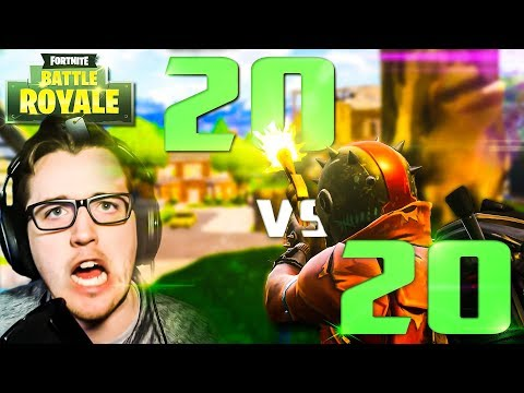 WIN AS A TEAM   20v20 Fortnite Game Mode Solo Pc Gameplay