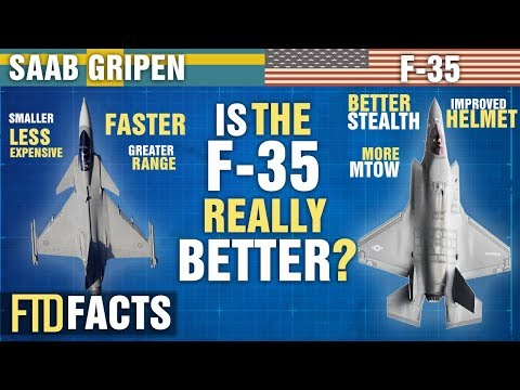 The Differences Between SAAB GRIPEN and F-35 Fighter Jets