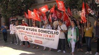 Los trabajadores de Arquisocial no se rinden y siguen peleando por remunicipalizar el servicio de ayuda a domicilio