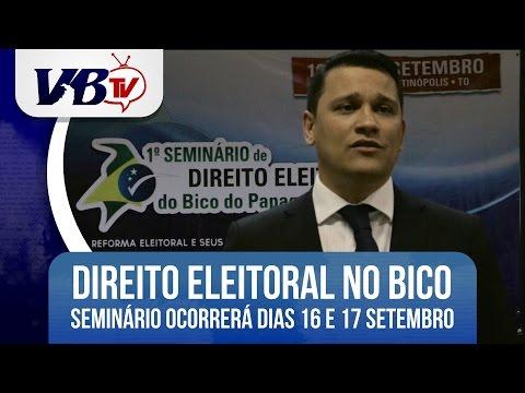 VBTv | Seminário de Direito Eleitoral do Bico acontece nos dias 16 e 17 de setembro