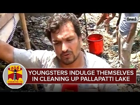 Youngsters-indulge-Themselves-in-Cleaning-up-Pallapatti-Lake-at-Salem--Thanthi-TV