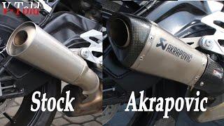 10. BMW S 1000 R Akrapovic vs stock exhaust sound
