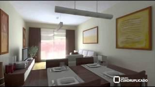 Video 3d de promoción inmobiliaria, para Grupo Cuadruplicado.