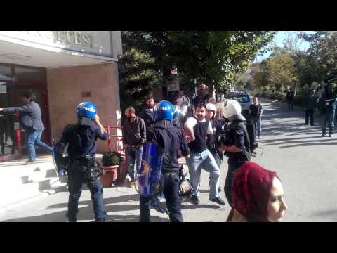 Cebeci Kampüsü'nde polis baskınının görüntüleri