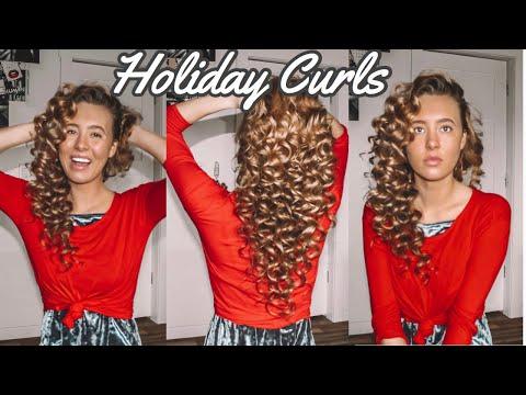 Heatless sock Curls (Christmas Edition🎄)