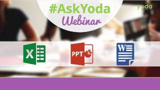 Here's link to download the Excel practice files used in this Webinarhttps://goo.gl/Yh8uXxWatch and Learn from real life cases/problem faced by professionals working in various fields like Finance, Accounting, Logistics, Auditing and much more.Claim your spot for 8th #AskYoda Webinar every wednesday on Hangout:  https://app.webinarjam.net/register/39472/8241bdad7b