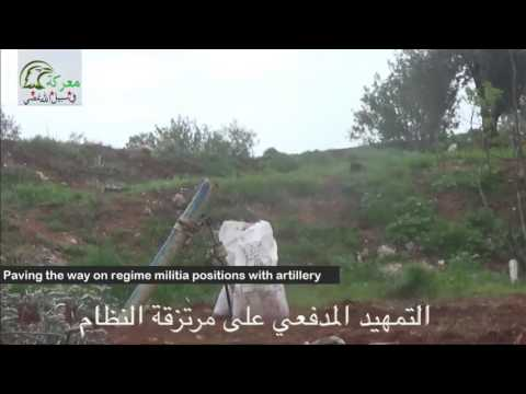 Aerial footage: regime militia under FSA's heavy rocket fire at checkpoint