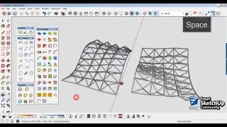 Video Space Truss Structure Curved Surfaces | SketchUp modeling MP3, 3GP, MP4, WEBM, AVI, FLV Desember 2017