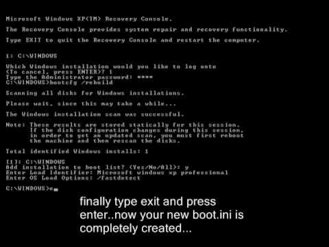 how to locate boot.ini file in windows 7
