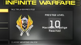 "Leave a ""LIKE"" if you enjoyed this WORLDS FIRST MASTER PRESTIGE 10th prestige in Infinite Warfare and winner of #TheRace ..."